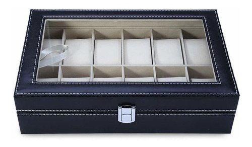 caja organizadora de relojes y joyas 12 rejillas