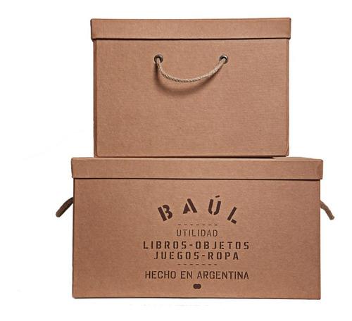 caja organizadora decorativa de espacio baúl 45x35x25cm