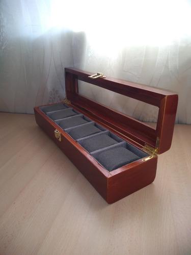 caja organizadora en madera para relojes