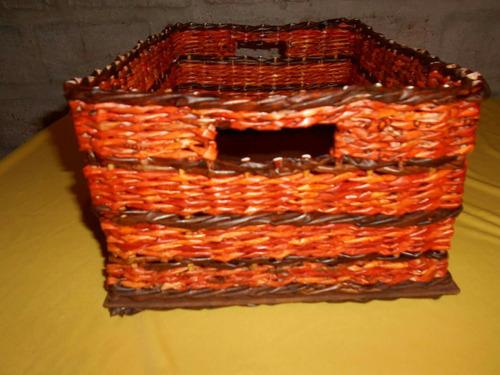 caja organizadora -falso mimbre