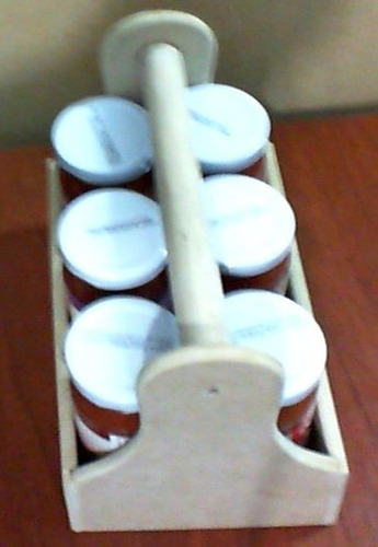 caja organizadora, frascos, tornillos 21 por 13.5 por 18 mdf