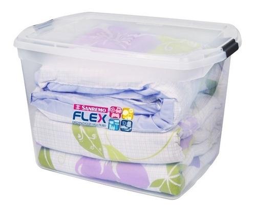 caja organizadora grande flex 80 litros san remo
