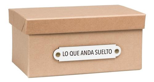caja organizadora 'lo que anda suelto' kraft chica