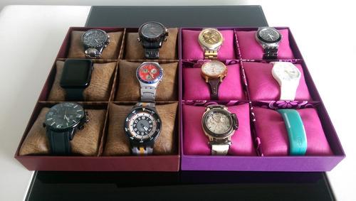 caja organizadora para relojes - 6 puestos
