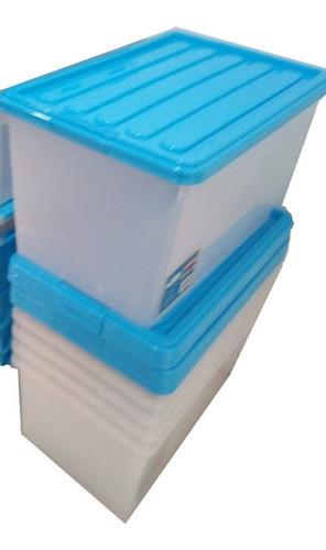 caja organizadora plastica alto 37cm ancho 36 fondo 42cm