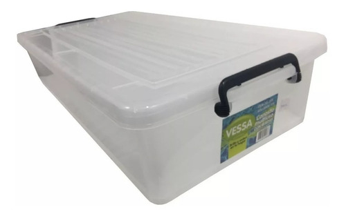 caja organizadora plástico ruedas tapa chato bajo cama 35lts