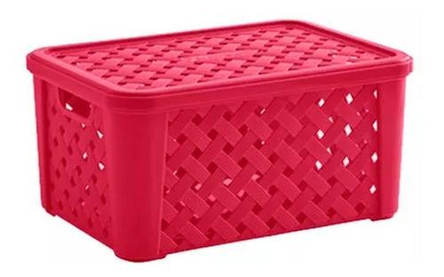 caja organizadora rattan 35x25x17 orden hogar
