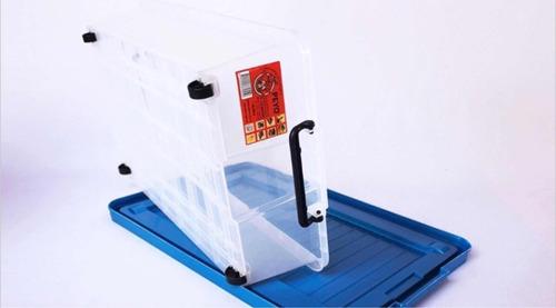 caja organizadora ruedas debajo de cama contenedor plastico