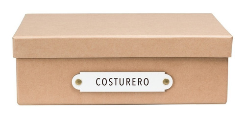 caja organizadora tamaño a4 costurero kraft