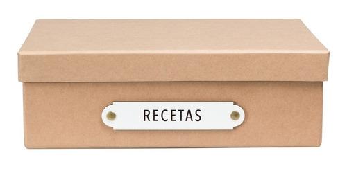 caja organizadora tamaño a4 recetas kraft
