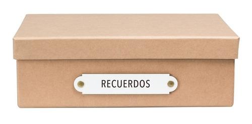 caja organizadora tamaño a4 recuerdos kraft