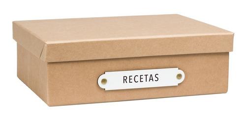 caja organizadora tamaño oficio papeles kraft