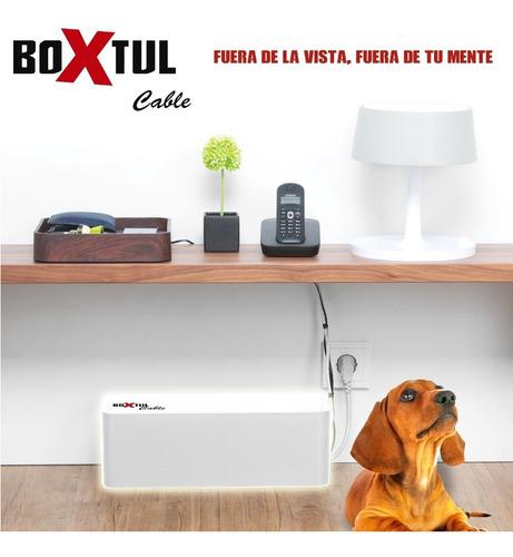 caja organizadora zapatilla electrica cable boxtul blanco