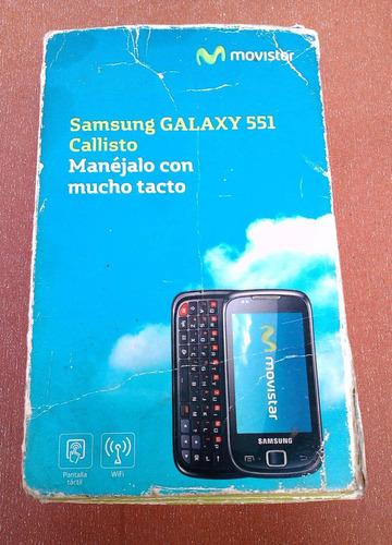 caja original samsung galaxy callisto 551 gt-l5510