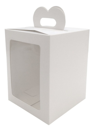 caja pan dulce 1/2 kilo c/ventana (13x13x17) 10 unid.