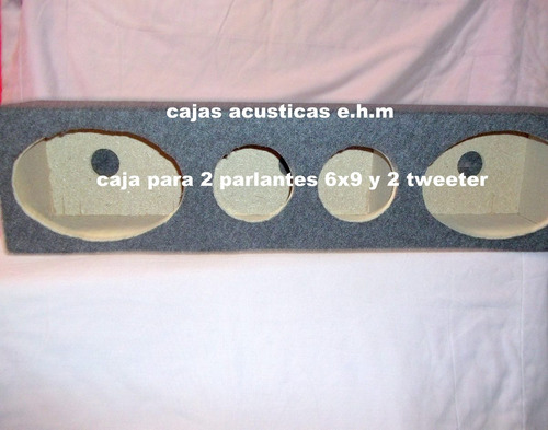 caja para 2 parlantes 6x9 y 2 tweeter seleniun