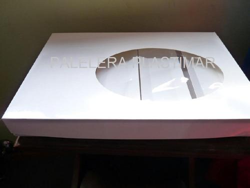 caja para 50 saladitos c/visor y separador (40x28x4) x 10 un