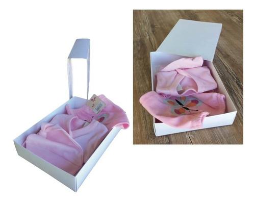 caja para ajuar de bebe  baby shower fosforera pack x 25 u