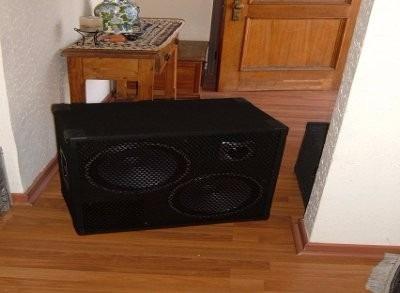 caja para bajo 2x12, 800 watts rms (eminence)
