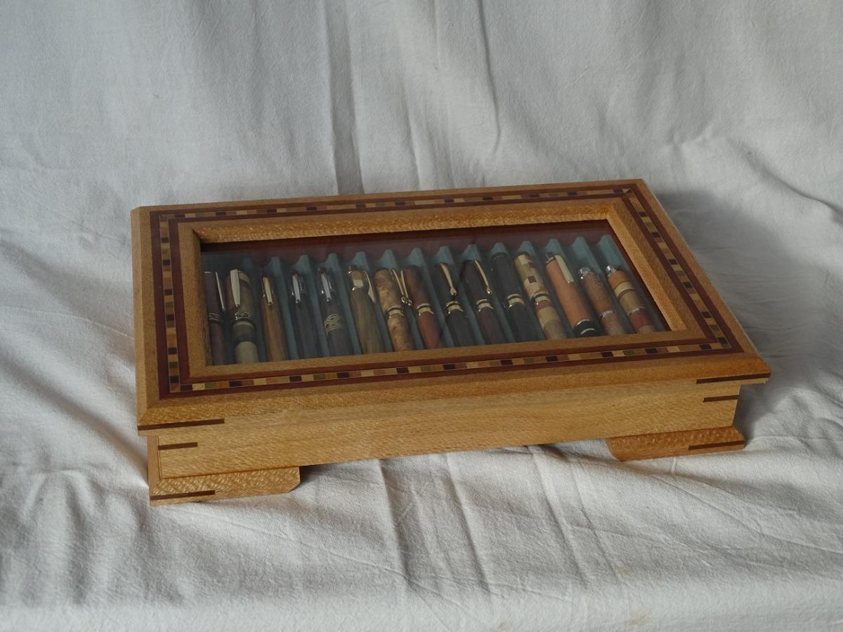 d8f72980ce Caja Para Coleccion De Lapiceras En Madera Maciza Y Taracea ...