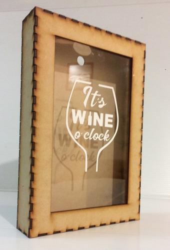 caja para corchos de vino collecionar decoracion regalo