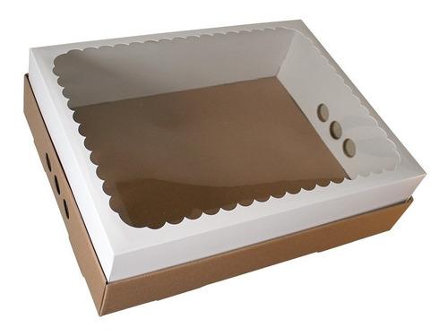 caja para desayuno o torta 43x32x12 con visor x5 u