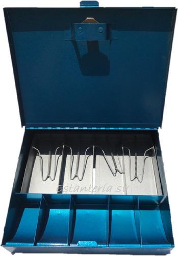 caja  para dinero metalica con llave