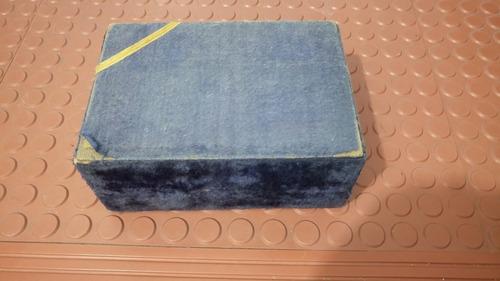 caja para dos copas forrada antigua