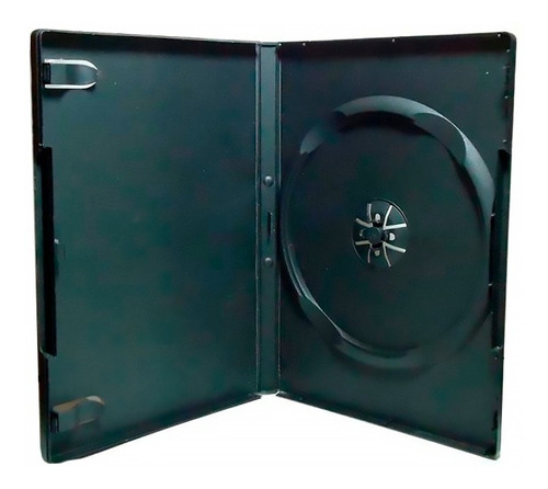 caja para dvd y cd negra plastica x 25 unidades staples