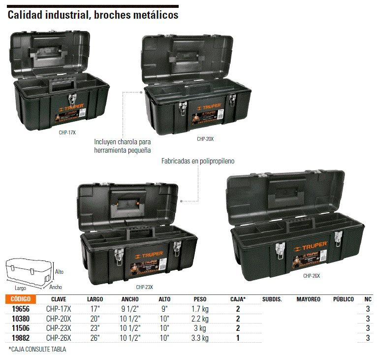 Caja para herramienta calidad industrial de 26 truper - Caja de herramientas precio ...