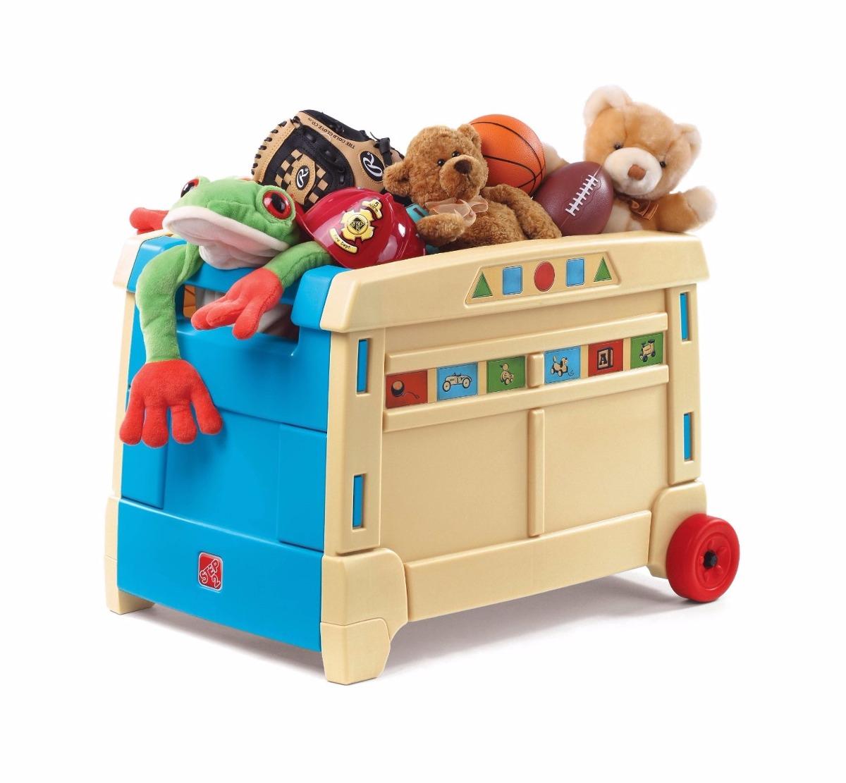 caja para juguetes con ruedas step 2 en
