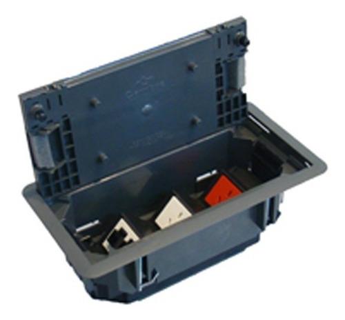 caja para piso tecnico para modulos cambre 1701 con tomas