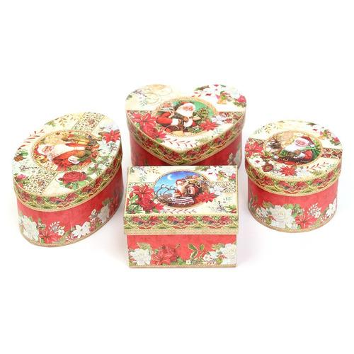 caja para regalos de navidad pack de 4 cajas