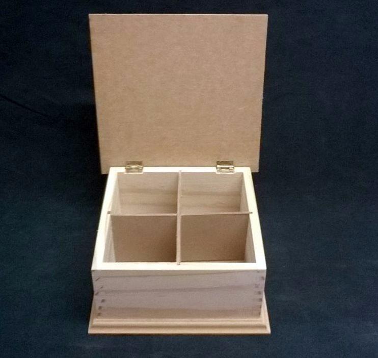 Caja para t de madera tapa mdf con bisagras manualidades for Caja madera con tapa