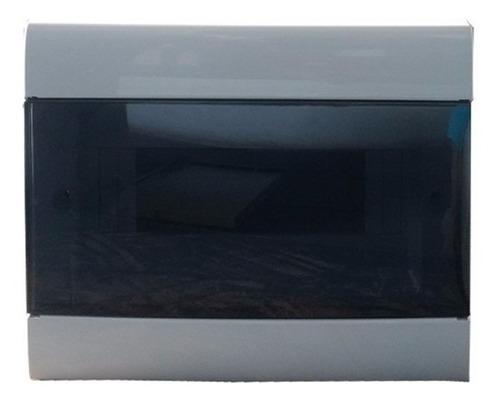 caja para termicas 8 bocas embutir de pvc genrod - tofema