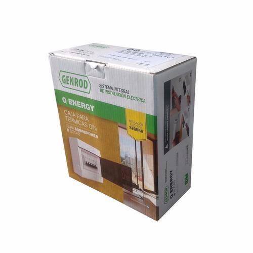 caja para termicas 8 bocas exterior de pvc  genrod - tofema
