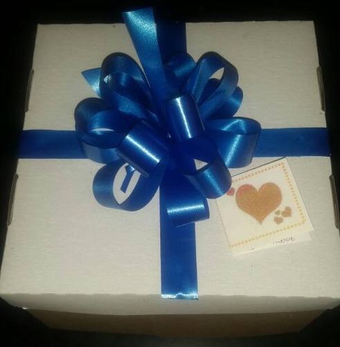 caja para torta y cupcakes 20x20x12 cm cartulina marrón