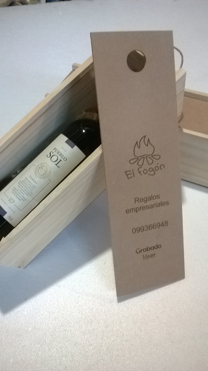caja para vino en madera y mdf regalo empresarial