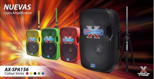 caja parlante american xtreme 50000w pedestal micrófono