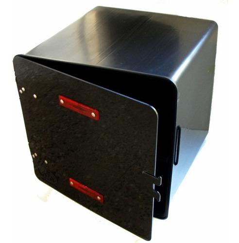 caja pizzera c/traba ''reforzada'' (negro) v.c. 586