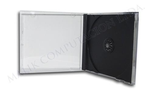 caja plastica cd single 10.4 mm pack 50 un. calidad premium