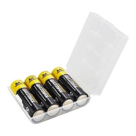 Caja Plástica Porta 4 Pilas Aa ! Garantía - Fac A/b