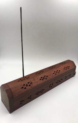 caja porta incienso de madera
