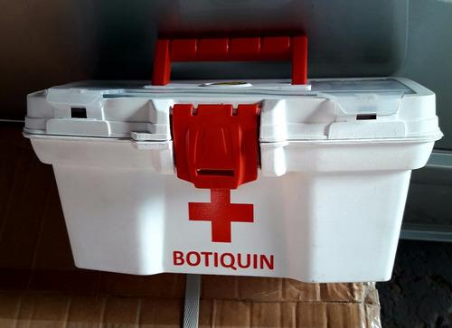 caja primeros auxilios blanca 11  con logo y gavetero