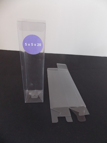 caja pvc transparente difusor (pack 25 unid) 5 x 5x 20 cm