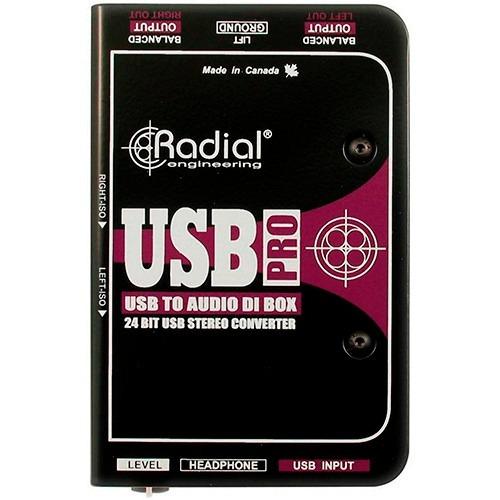 caja radial directa activa estéreo usb usb-pro