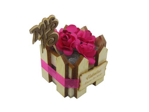 caja recordatorio para 15 años en madera
