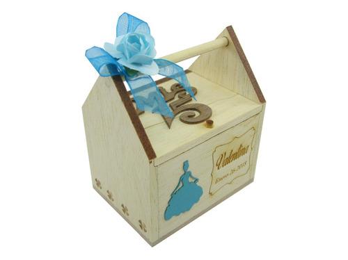 caja recordatorio para 15 años en madera mediano