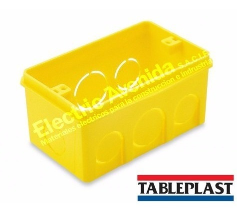 caja rectangular plástica de embutir 5x10 autoextingible