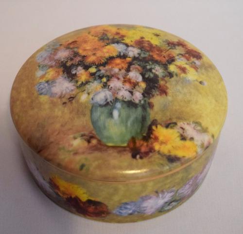 caja redonda de porcelana goebel. trinket box. n19